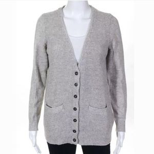 Madewell Wallace Gray Thermal Stitch Cardigan M